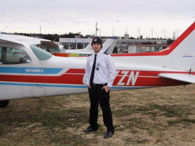 Ryan Gillis by VZN after his first Solo... Congrats Ryan...