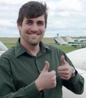 Morgan Ross after achieving his instructor rating.