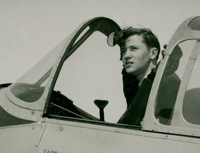Marcel Seguin: Marcel following his Commercial Flight test at the age of 19.